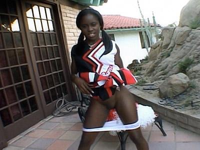 Ebony Cheerleader Pussy Tease