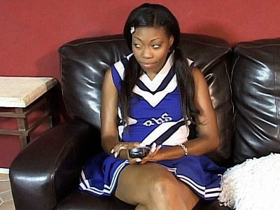 Sweet Ebony Cheerleader Knobbed